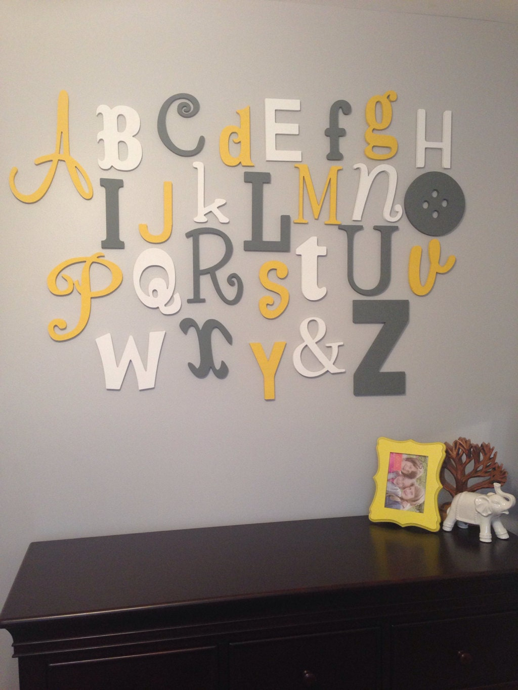 lettering for walls painted wooden alphabet set mixed wood wall letters abc 23310 | il fullxfull.594150682 atba