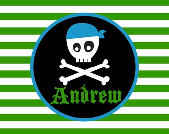 Personalized Placemat - 12x18 laminated placemat pirate