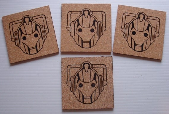 Cyberman Cork Coasters