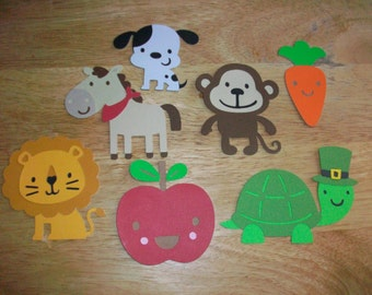 7 piece set Animal and assorted die cut shapes