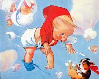1933 Baby Illustration - Digital Download