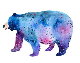Space Bear Print