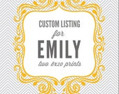 Name Prints Custom Colors - 2 8x10 prints
