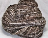 SOLD Ebay 430 yards Natural Alpaca corriedale cross handspun natural brown Dark Med Light off white yarn 6 oz