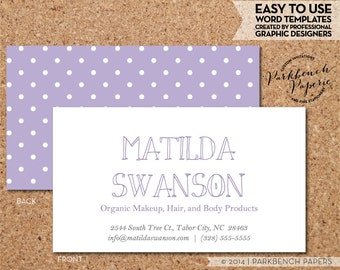 avery business cards etsy. Black Bedroom Furniture Sets. Home Design Ideas