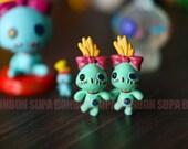 2 pcs / Decoden / PVC / LiLo and Stitch / Scrump / Miniature / Dollhouse / 3.5cm / DS169