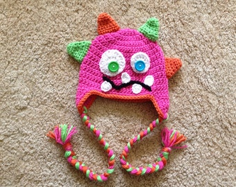 Crocheted Monster Time Hat
