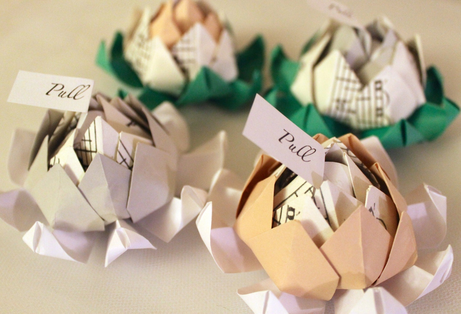 Fifty 50 origami lotus blossom wedding favors with zoom dhlflorist Image collections