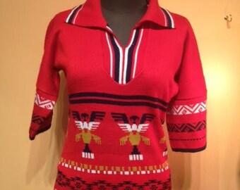 Vintage Red Knit Dress