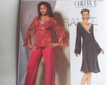 Butterick Sewing Pattern B4851 Misses' Top, Dress and Pants in Size 8, 10, 12, 14