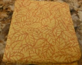 Autumn or Fall Themed NEEDLE BOOK - Golden Yellow with Leaves