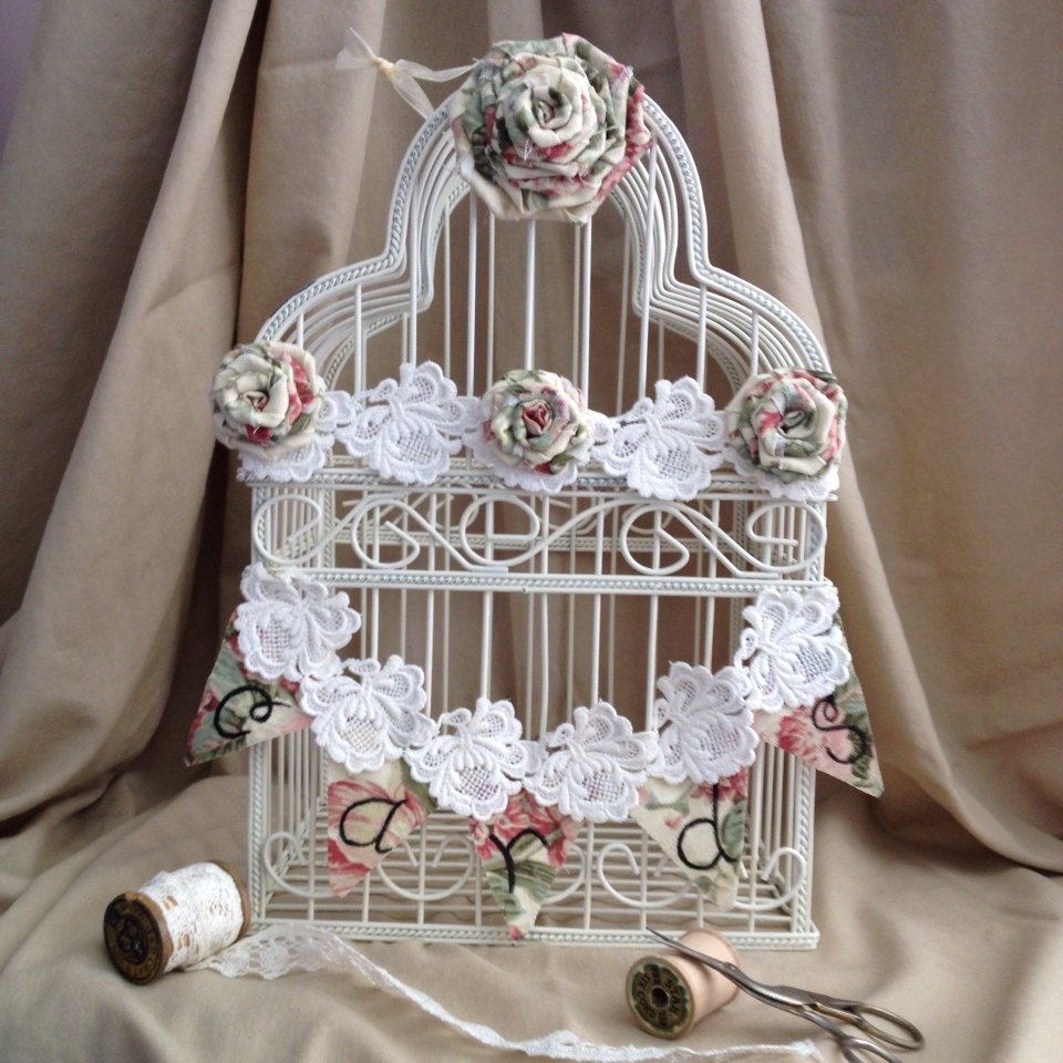 Birdcage Wedding Card Holder: Wedding Bird Cage Card Holder Shabby Chic Bird Cage Wedding