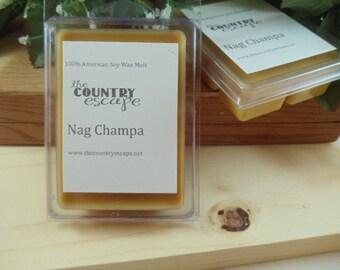 Nag Champa Scented 100% Soy Wax Clamshell Melt - Sensual Warmth -Maximum Scented
