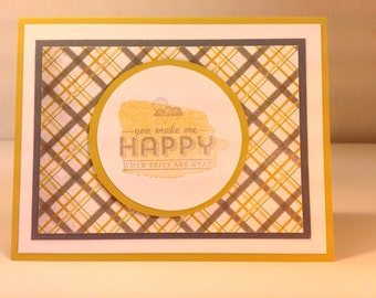 Stampin' Up Handmade Greeting Cards: You Make Me Happy When Skies Are Grey