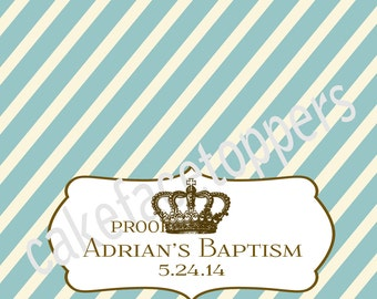DIY Personalized Baptism bag toppers. Print as many as you want.