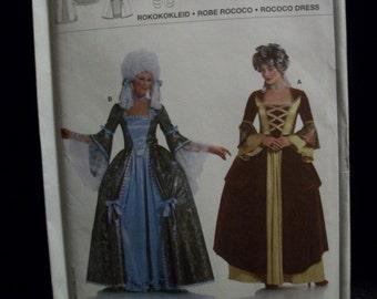 burda 2447 Marie Antoinette Style Costume (Sizes 10, 12, 14, 16, 18, 20, 22, 24, 26)