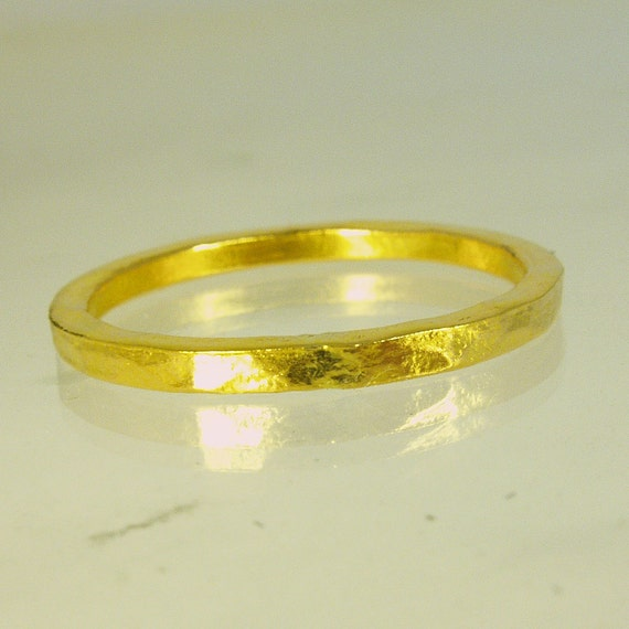 Pure gold mens wedding band 24 Karat solid gold