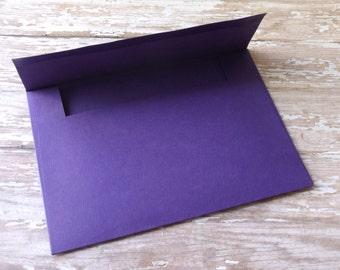 4x6 (A6) Solid Dark Purple Envelopes-Mailable-Set of 10-Birthdays, Showers, Weddings, Parties