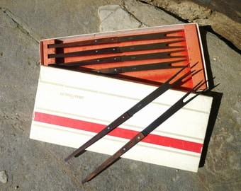 French fondue forks, Letang and Remy, Paris, boxed seventies.