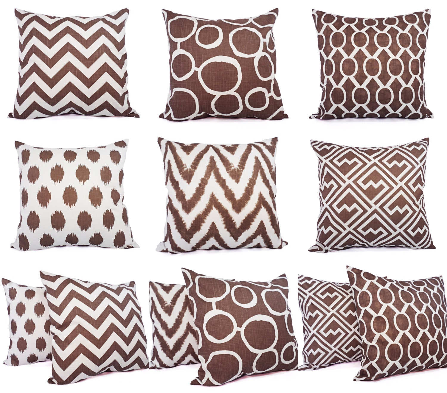 Brown Decorative Throw Pillows : Decorative Pillow Cover Brown Pillow Cover by CastawayCoveDecor