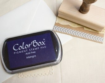 Blue Pigment Ink Pad. Blue Ink Pad, ColorBox Midnight Blue Stamp Pad.