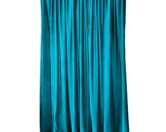 Elegant Turquoise Velvet 108 Inch Curtain Long Panel Extra Wide Custom Made Sizes for Large Window Treatments Decor Display Drapes/Drapery