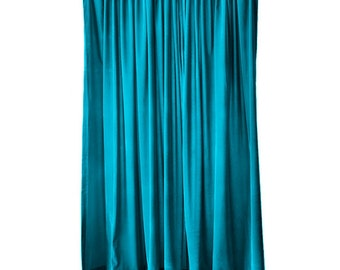 Elegant Turquoise Velvet 108 Inch Curtain Long Panel Extra Wide Custom Made Sizes for Large Window Treatments Decor Display Drapes/Drapery