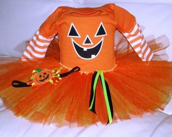 Halloween Costume, Halloween Onsie Tutu, Pumpkin Tutu, Baby First Halloween, Halloween Tutu, Halloween Onsie, Photo Prop