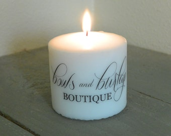 Personalized Logo Candle