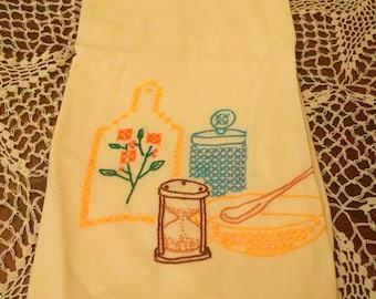 Vintage Embroidery Kitchen Towel
