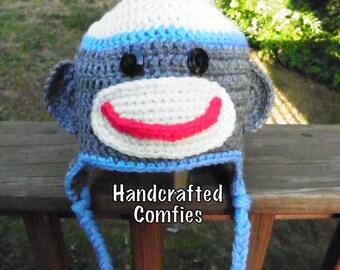 Sock Monkey Hat - Toddler Size