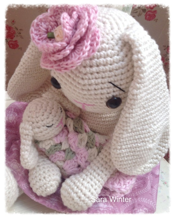 Amigurumi Crochet Bunny Rabbit with Baby Bunny