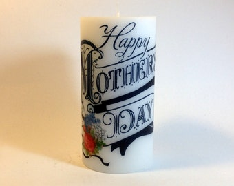 Happy Mother's Day Candle, Mother's Day Gift, Gift for Mom, Mother's Day Present, Happy Mothers Day, Mothers Day Gift, Mothers Day Present