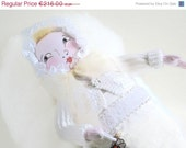 ON SALE Baby Doll in Bands - OOAK Doll,  ready to Ship