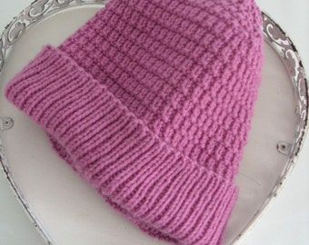 Pink Wool Hat Adult Size Cap Reduced Price Clearance Sale Ready to Ship