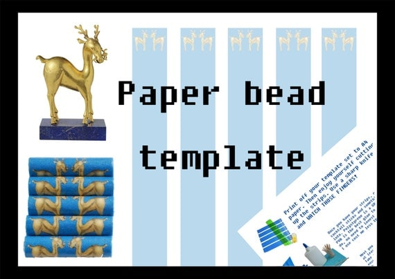 items similar to paper bead printable template