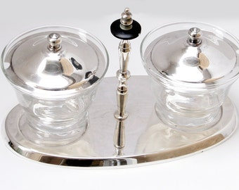 Mid Century Silver Plated Jam/Jelly/Relish Server