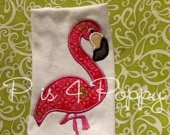 Flamingo applique design instant download