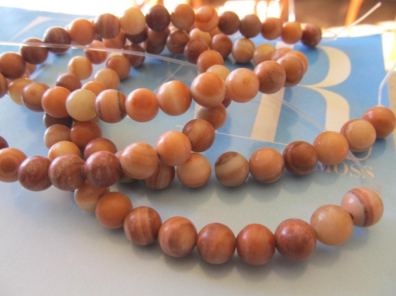 Red Malachite Stone : Red malachite beads round gemstone by