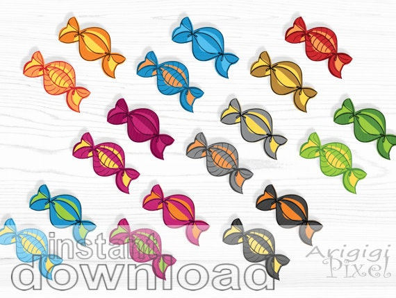 hand sketched candy - clipart instant download