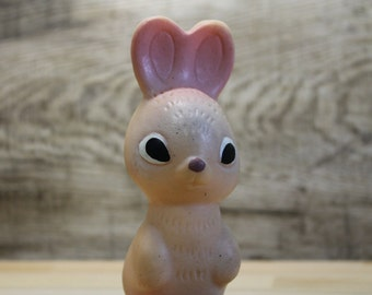 bunny ...rubber toy ... vintage russian USSR ... rabbit  ... Soviet Union ... child ... baby