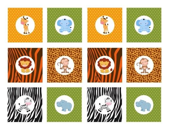 Slobbery image with regard to free printable baby safari animals