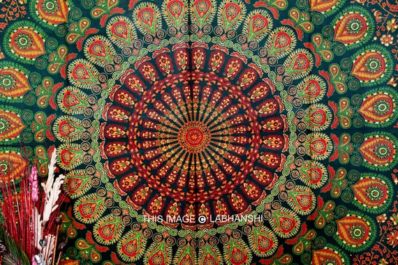 Hippie tapestry wallpaper images wall tapestries - Hippie Hippie Tenture Murale Tapisserie De Mandala Par