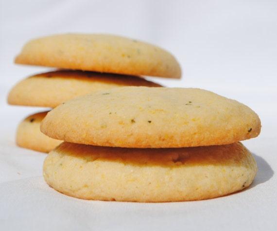 Lemon-Rosemary Cornmeal Cookies by TheBlusteringBaker on Etsy
