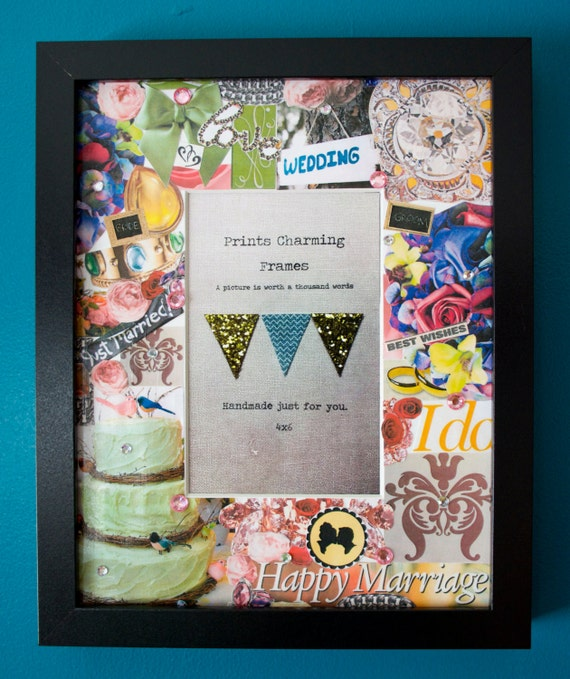Items Similar To Just Married Wedding Collage Picture Frame On Etsy
