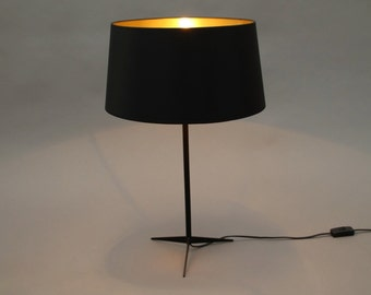 Black/gold Table Lamp Naunyn retro