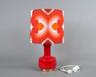 Table Lamp Vintage 70s red