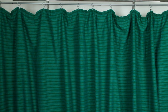Turquoise green curtain vintage by lichtscheuberlin on etsy - Green and turquoise curtains ...