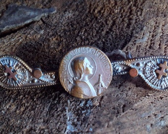 Vintage Saint Joan of Arc Brooch