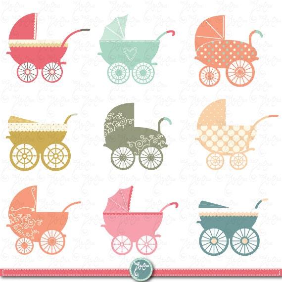 Conosciuto Baby passeggino Clipart Carrozzina clip art pack ME67